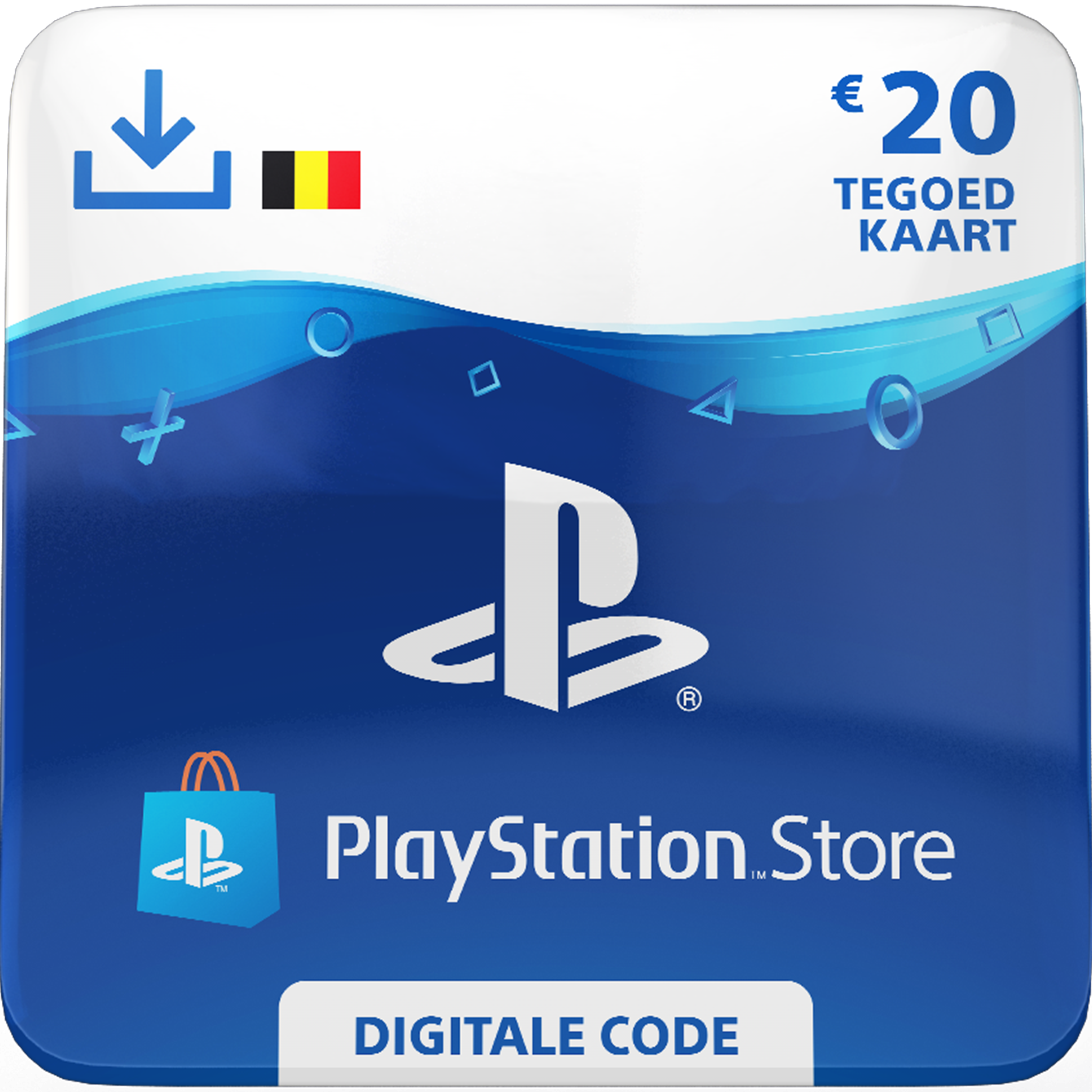 Playstation Network Card 20 euro (BE)