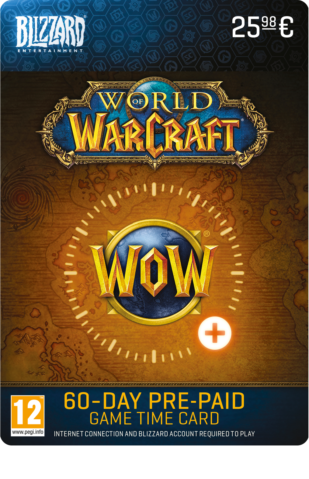 World of Warcraft 60 dagen Game Time (BE)