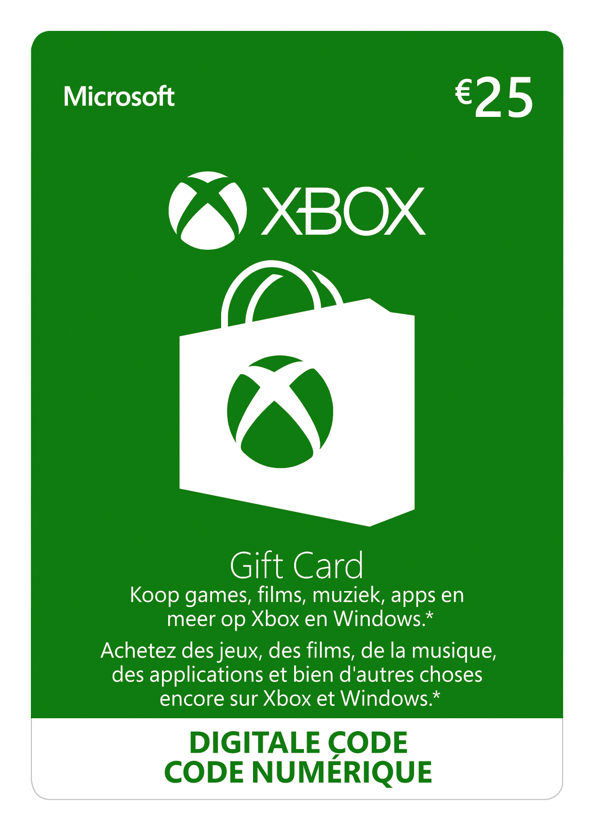 Xbox Giftcard 25 euro (BE)
