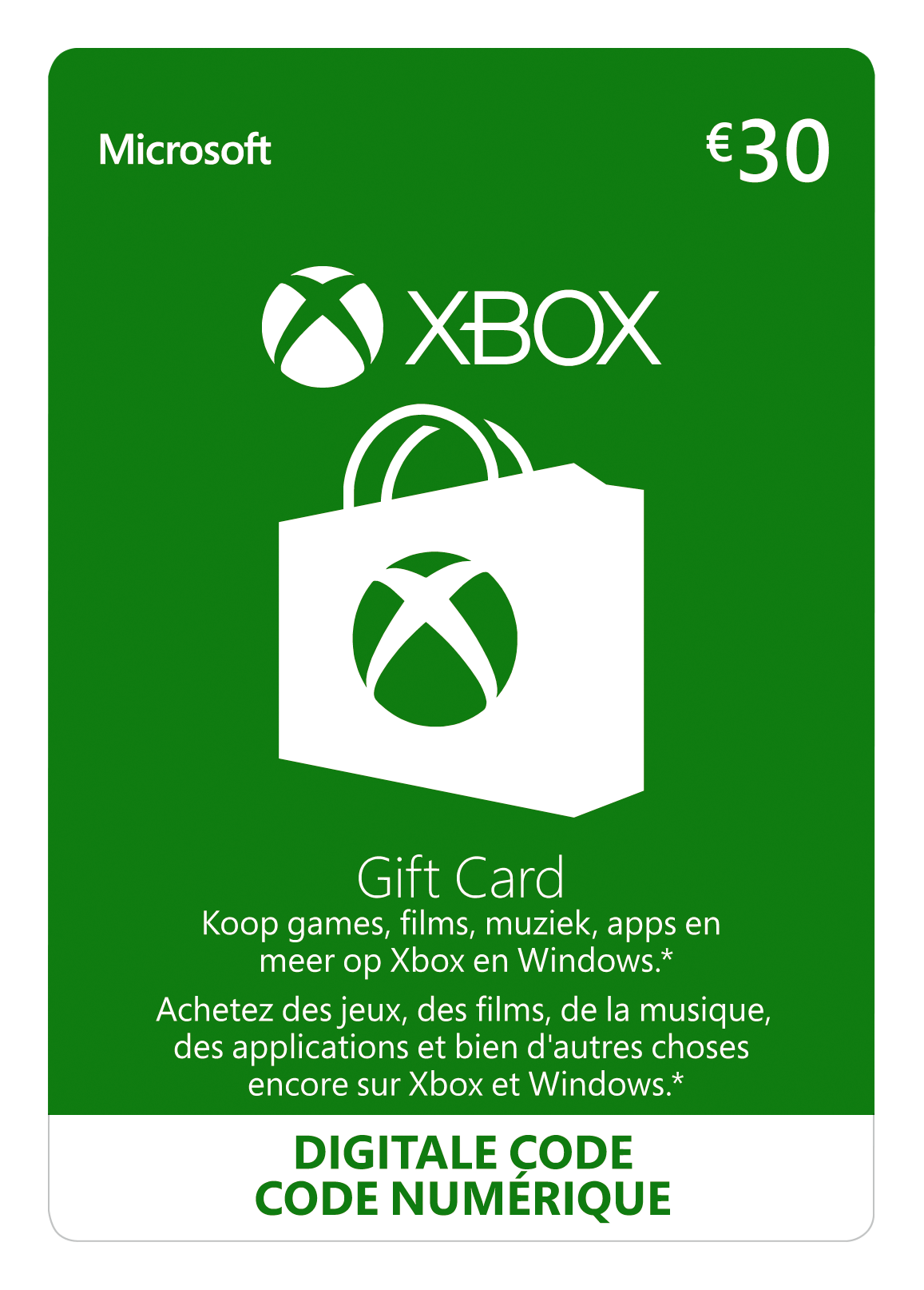 Xbox Giftcard 30 euro (BE)
